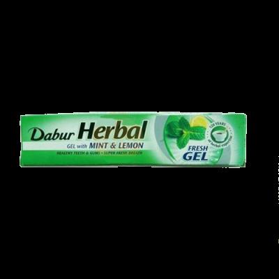 Аюрведическая зубная паста-гель Дабур   Мята и лимон 80  г