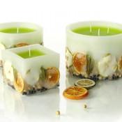 Декоративные натуральные свечи